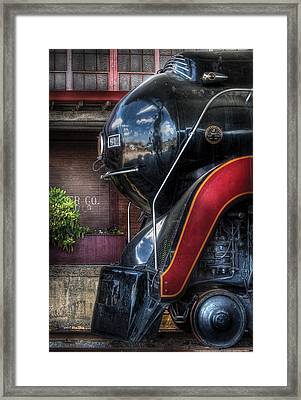 Train - Engine - 611 - Nw - J Class - Steam 4-6-4 Framed Print by Mike Savad