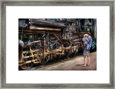 Train - Engine -  90 Great Western - All Aboard Framed Print by Mike Savad