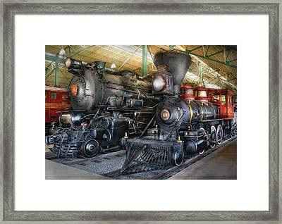 Train - Engine - Steam Locomotives Framed Print by Mike Savad
