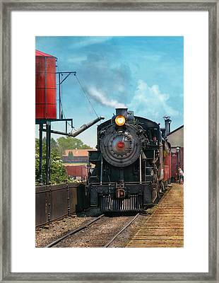 Train - Engine - Strasburg Number 9 Framed Print by Mike Savad