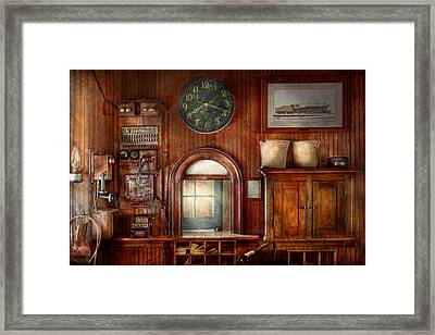 Train - Office - The Ticket Takers Window Framed Print by Mike Savad
