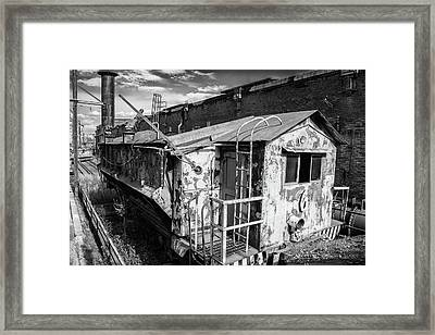 Train 6 In Black And White Framed Print