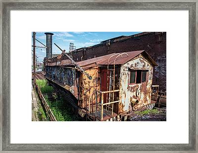 Train 6 In Color Framed Print