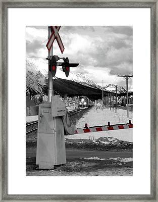 Train A Comin Framed Print