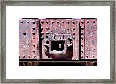 Train Abstract No. 9-1 Framed Print