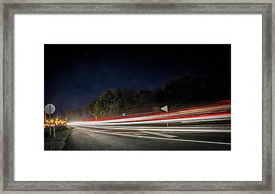 Train Ahead Framed Print by Parker Cunningham