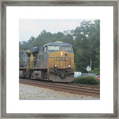 Train At Folkston 2 Framed Print by Cathy Lindsey