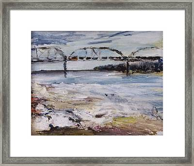 Train Bridge Framed Print by Helen Campbell