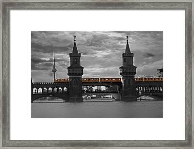 Train Bridge  Framed Print by Nathan Wright