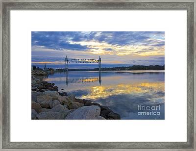 Train Bridge Sunrise  Framed Print by Amazing Jules