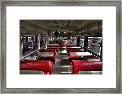 Train Cafe Framed Print by Todd Carter