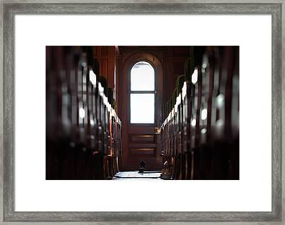 Train Car Interior Framed Print by Joseph Skompski