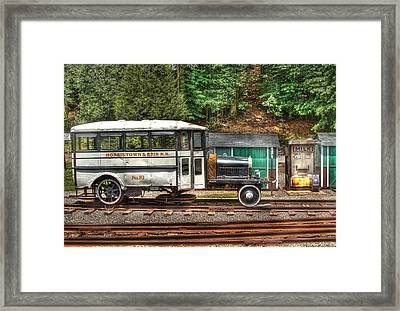 Train - Car - The Rail Bus Framed Print by Mike Savad