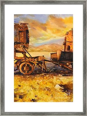 Train Cemetary- Salar De Uyuni, Bolivia Framed Print