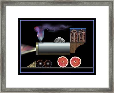 Train Collage Framed Print