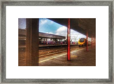Framed Print featuring the photograph Train Coming In by Isabella F Abbie Shores FRSA