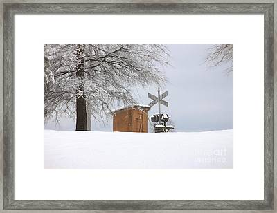 Railroad Rest Area Framed Print by Benanne Stiens