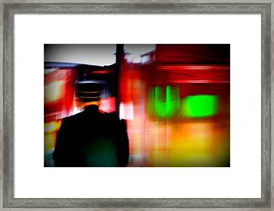 Train Conductor Framed Print by Susie Weaver