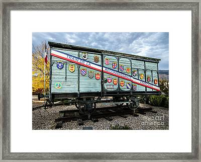 Train De La Reconnaissance Francaise - Ogden - Utah Framed Print by Gary Whitton