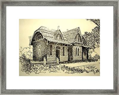 Train Depot  Framed Print by George Lucas