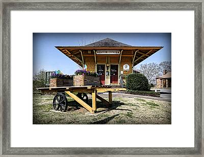 Train Depot Framed Print