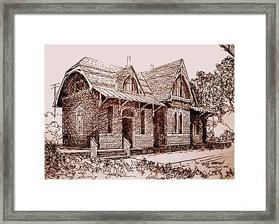 Train Depot Sepia Framed Print by George Lucas