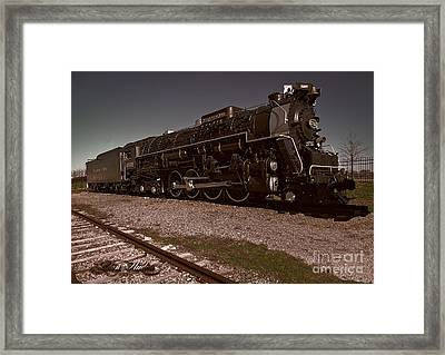 Train Engine # 2732 Framed Print by Melissa Messick