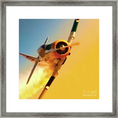 Train For Combat Framed Print by Gus McCrea