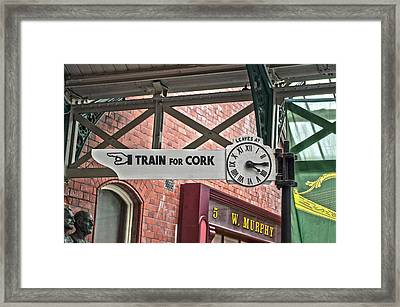 Train For Cork Framed Print
