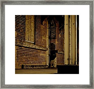 Train Left The Station Framed Print by Odd Jeppesen