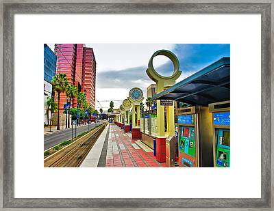 Framed Print featuring the photograph Train Loading Dock by Joseph Hollingsworth