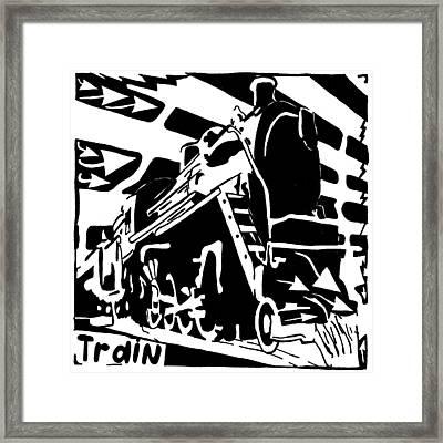 Train Maze Framed Print by Yonatan Frimer Maze Artist