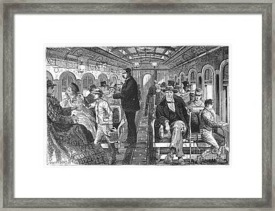 Train: Passenger Car, 1876 Framed Print by Granger