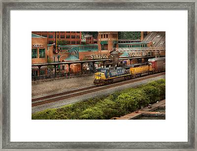 Train - Pittsburg, Pa - Station Square Framed Print