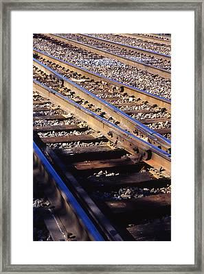 Train Rails Framed Print by Randy Muir