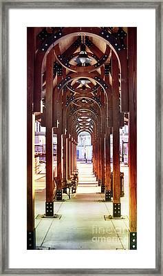Train Station Arch Way Framed Print