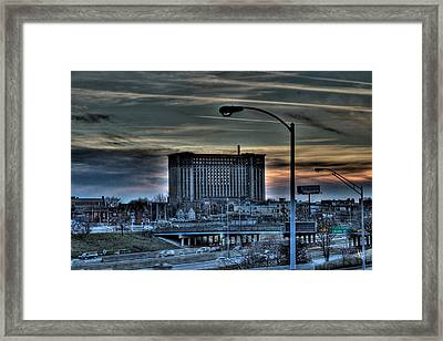 Train Station Detroit Mi Framed Print by Nicholas  Grunas