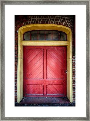 Train Station Doorway Framed Print