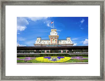 Framed Print featuring the photograph Train Station by Greg Fortier