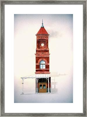 Train Station Tower Framed Print