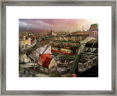 Train Station - Wuppertal Suspension Railway 1913 Framed Print by Mike Savad