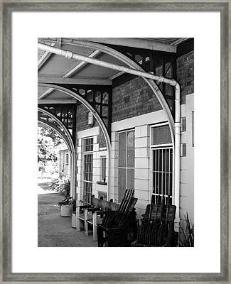 Train Station2 Framed Print by Bridgette  Allan