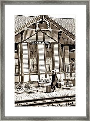 Train Stop Framed Print by William Furguson