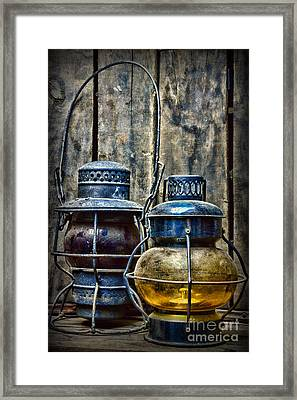 Train - The Railroad Lantern Framed Print by Paul Ward