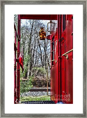 Train - The Red Caboose Framed Print