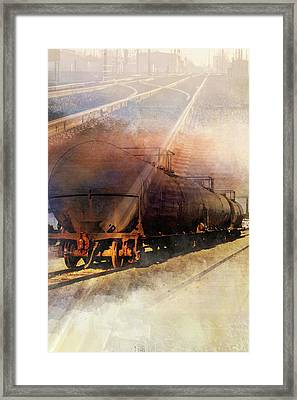 Train To Beyond Framed Print