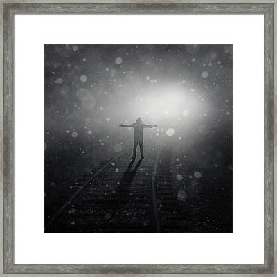 Train To Catch Framed Print by Zoltan Toth