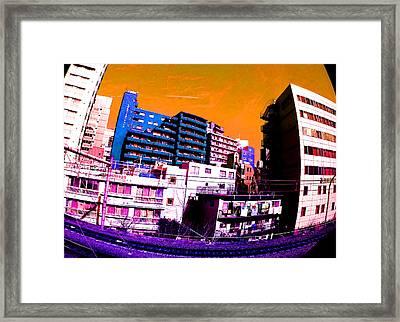 Train To Harajuku Tokyo Framed Print by Jera Sky
