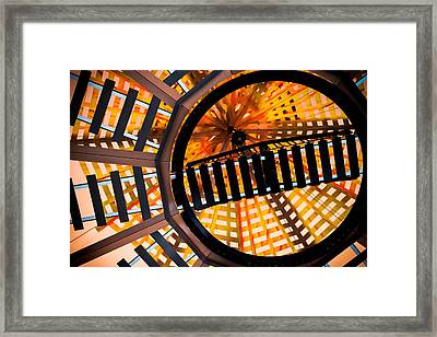 Train Track Abstract Framed Print by Karen Wiles