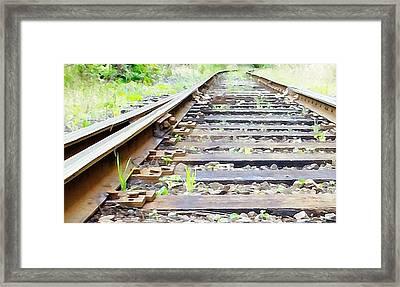 Train Track Framed Print by Kathleen Voort